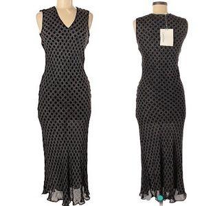 Calvin Klein Collection Black & Cream Maxi Dress